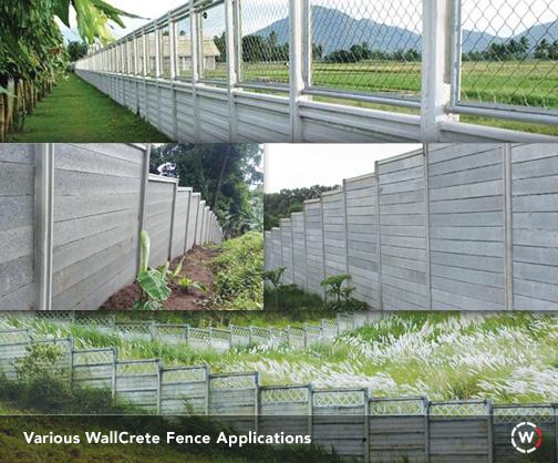 Fences, Wallcrete, Trusted, Prefab, Philippines, Various